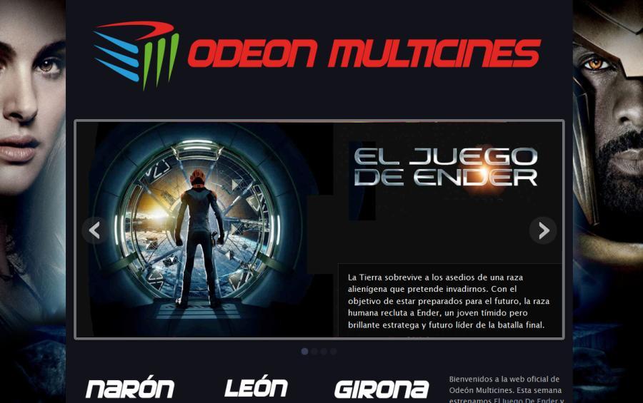 Página principal de Odeón Multicines